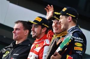 F1 - I protagonisti sul podio