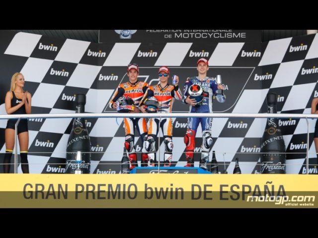 Marquez, Pefrosa e Lorenzo sul Podio MotoGP di Jerez