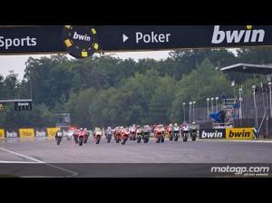 La partenza di Brno con i tre spagnoli subito in testa