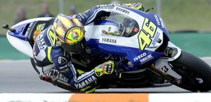 Valentino Rossi in azione. Per lui ancora un quarto posto, come la sua posizione nel mondiale