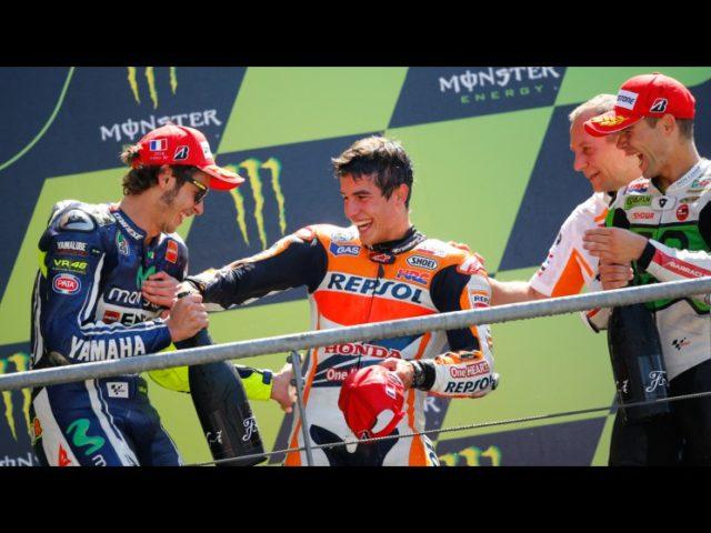 La gioia di Rossi, Marquez e Bautista sul podio
