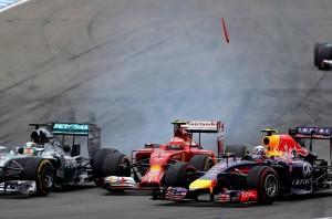 Raikkonen a sandwich fra Hamilton e Ricciardo Germania