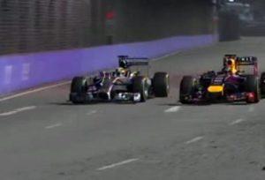 Il sorpasso decisivo di Hamilton su Vettel