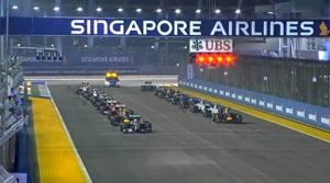 La partenza del Gp dalla quale manca Rosberg, ai box.