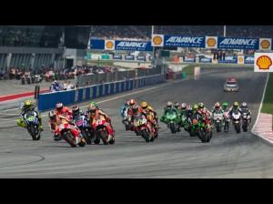 La partenza del GP con Pedrosa in testa ed il contatto fra Lorenzo e Marquez