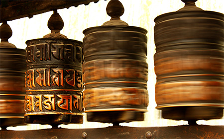 Katmandu - Ruote di preghiera