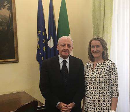 Vincenzo De Luca e Mary Ellen Countryman