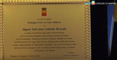 Onorificenza Salvatore Sabella