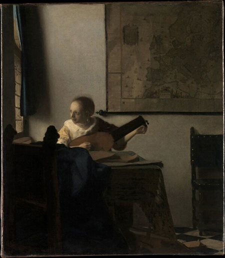 New York Metropolitan Museum of Art - Johannes Vermeer - La donna con il liuto olio su tela cm 51 x457