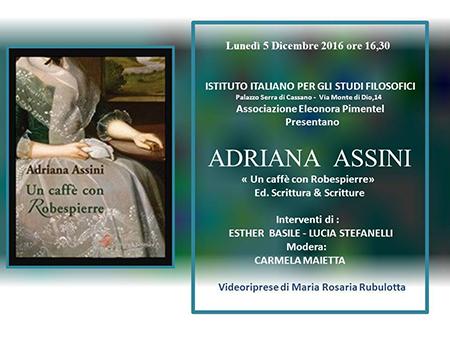 Adriana Assini, 'Un caffè con Robespierre'