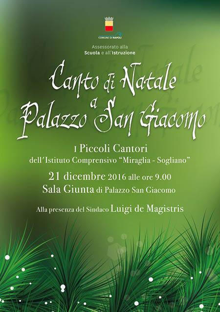 Canto di Natale a Palazzo San Giacomo