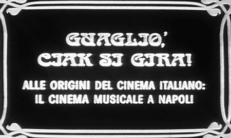 Il cinema musicale a Napoli