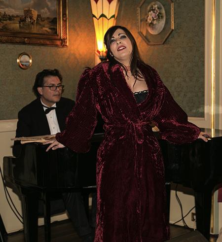 Marianita Carfora e il Maestro Biagio Terracciano in Meretrices