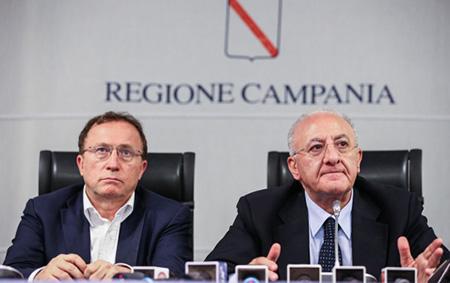Fulvio Bonavitacola Vincenzo De Luca