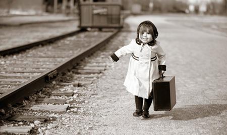 Con un treno ed una valigia