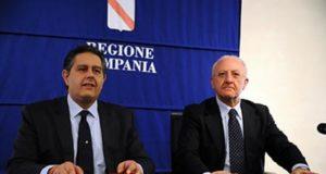 Giovanni Toti e Vincenzo De Luca, foto Massimo Pica