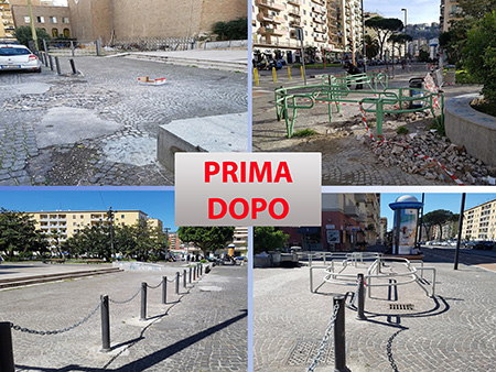 completati lavori arredo urbano piazza san vitale ex