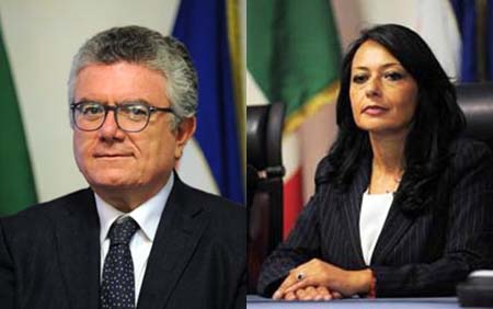 Amedeo Lepore e Sonia Palmeri