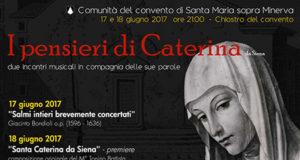 'I Pensieri di Caterina da Siena - Due incontri musicali in compagnia delle sue parole'
