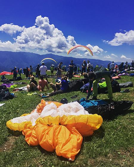 Monte Avena 2017 Decollo
