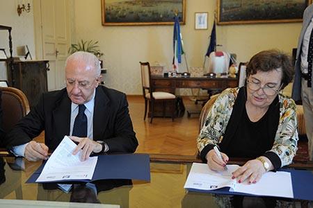 Presidente della Regione Campania, Vincenzo De Luca, e Prefetto di Napoli, Carmela Pagano