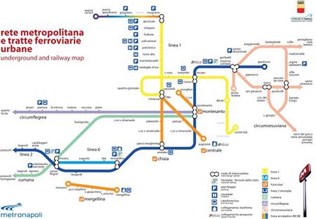 Mappa Metropolitana Napoli