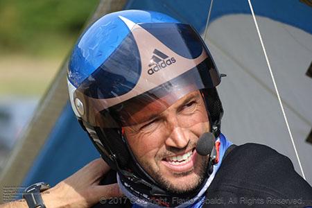 Alessandro Ploner, campione d'Italia deltaplano 2017 - foto di Flavio Tebaldi