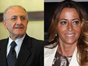 Vincenzo De Luca e Lucia Fortini