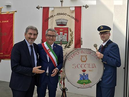 Presidente Raffaele Cattaneo e il Sindaco Giorgio Ginelli