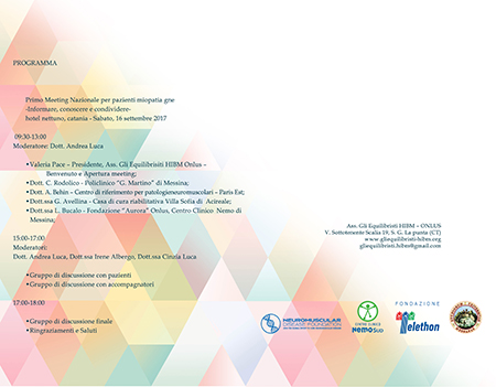 Primo Meeting Nazionale per pazienti Miopatia GNE