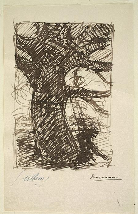 Umberto Boccioni - 'Studio di albero'