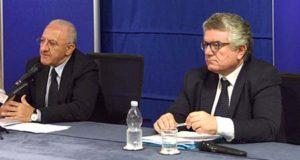 Vincenzo De Luca e Amedeo Lepore, foto Massimo Pica