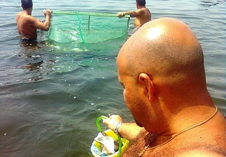 Rosario Lopa pulizia mare