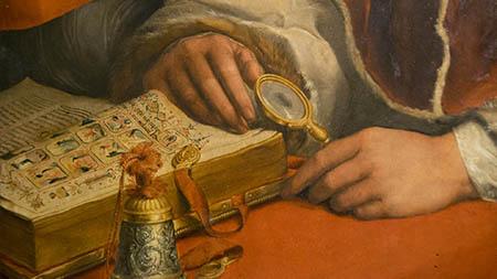 Andrea del Sarto, 'Ritratto di Papa Leone X con due cardinali'