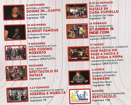 Stagione teatrale 2017 2018 Teatro Enzo Sarno di Maiori (SA)