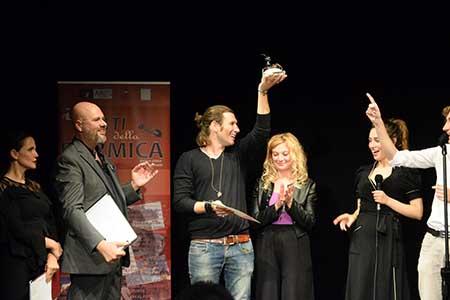Bruno Barone ritira il premio per il miglior corto