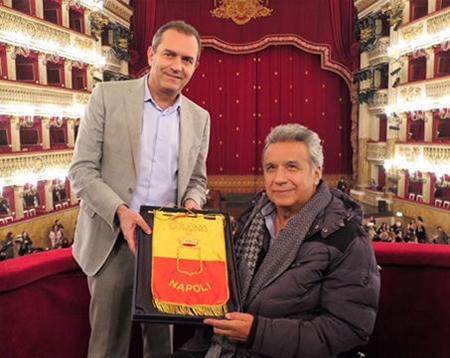 Luigi de Magistris e Lenín Moreno