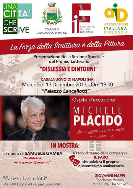 Michele Placido al premio letterario 'Una Città che Scrive'