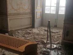 Reggia di Caserta distacco intonaco sala delle dame