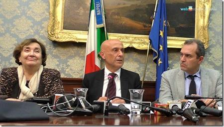 Carmela Pagano, Marco Minniti, Luigi de Magistris