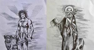 Lugh e Sant'Antonio Abate, ilustrazioni Marco Monty