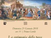 La cerimonia della posa della prima pietra del-Palazzo Reale di Caserta