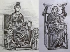 Dea Cibele e Madonna di Montevergine, illustrazioni Marco Monty