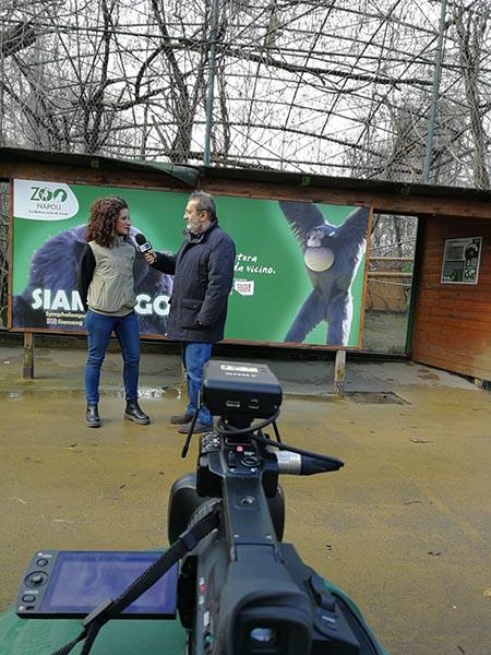 Fiorella Saggese e Claudio Ciccarone allo Zoo di Napoli