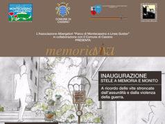 'Memoria Viva', inaugurazione stele a memoria e monito