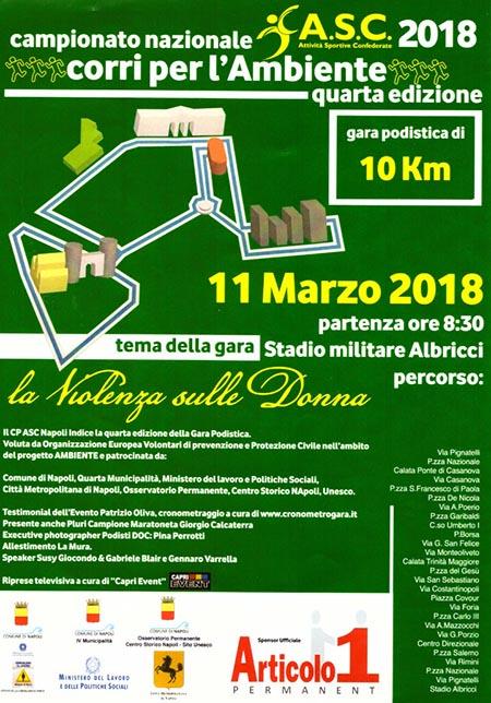 Napoli 'Corri per l'Ambiente' 2018