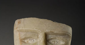 Testa funebre Yemen I secolo a C - I secolo d.C. Alabastro