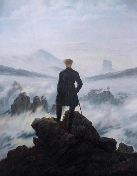 'Viandante sul mare di nebbia' di Caspar David Friedrich