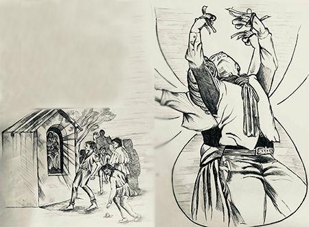 Madonna dell'Arco, illustrazioni Marco Monty