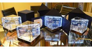Premi d'Artista della IV edizione, realizzati dall'artista Silvia Iorio grazie alla collaborazione della Fondazione Exclusiva e di Exclusiva Design